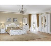 Спальня  Александрина белая патина золото